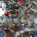 Close up photo of part of a molecular model