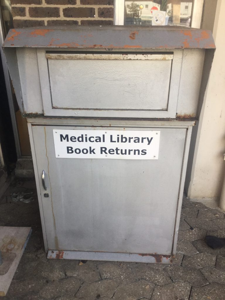 Medical Library Book Returns Box