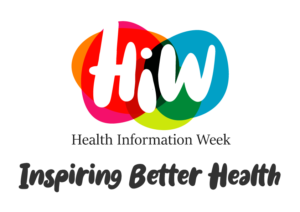 the logo for Health Information Week. It reads 'Health Information Week: Inspiring Better Health'